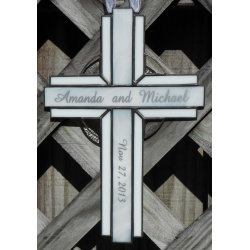 Personalized Stained Glass Cross Suncatcher# 114